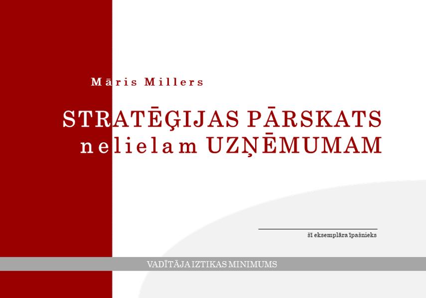 Stratēģijas pārskats nelielam uzņēmumam (Darba grāmata)